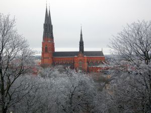 Uppsala Domkyrka (Cathedral). Photo by Mark Wilson: Wikimedia commons